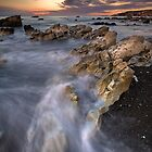 Kaikoura limestone ridge line by Ken Wright