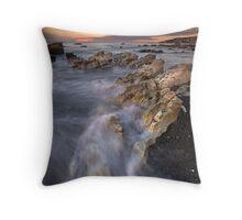 Kaikoura limestone ridge line Throw Pillow