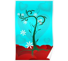 Digital image of a climber plant with flowers Poster