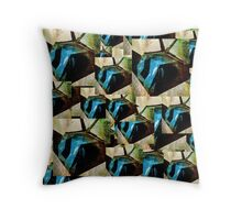 A STEALTH BOMBER, DIGITIZED Throw Pillow
