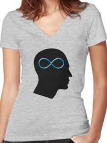 Infinity Mind Women's Fitted V-Neck T-Shirt