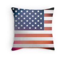 Vintage Ektachrome photo of the Stars and Stripes Throw Pillow