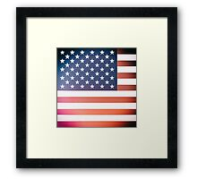 Vintage Ektachrome photo of the Stars and Stripes Framed Print