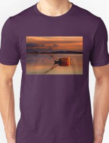 Lonely gaita at the lagoon of Messolonghi Unisex T-Shirt