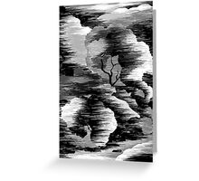 Digital image of trees Greeting Card