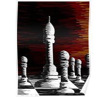 Digital painting of chess canvas Poster