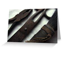 no tool like an old tool Greeting Card