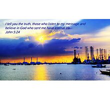 Picture with Bible verse - West Coast Light Photographic Print