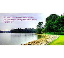 Picture with Bible verse - Seletar Water Photographic Print