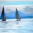 2007-Sailing Race, Vancouver Island by Teresa Dominici
