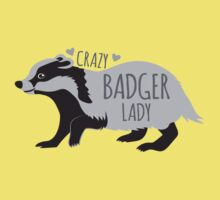 Crazy Badger Lady Kids Tee