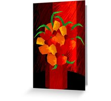 Digital painting of flowers in a vase Greeting Card
