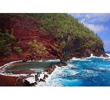 Red Sand Beach Photographic Print