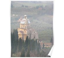 Montepulciano - Church in the mist Poster