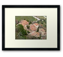 Tuscany - Roof tops Framed Print