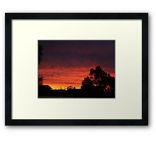 Mackenna's Sunset Framed Print