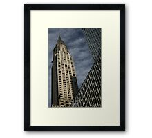 Skyscraper Geometry, Chrysler Building, New York Framed Print