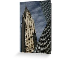 Skyscraper Geometry, Chrysler Building, New York Greeting Card