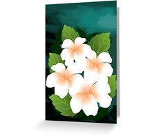 Digital painting of flowers. Greeting Card