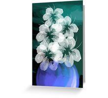 Digital painting of flower Greeting Card