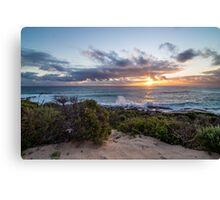 Sunset at Conto beach WA Canvas Print