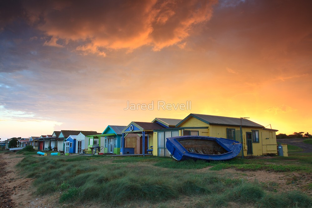 Campbells Cove Boat Sheds by Jared Revell