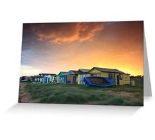 Campbells Cove Boat Sheds Greeting Card