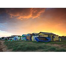 Campbells Cove Boat Sheds Photographic Print