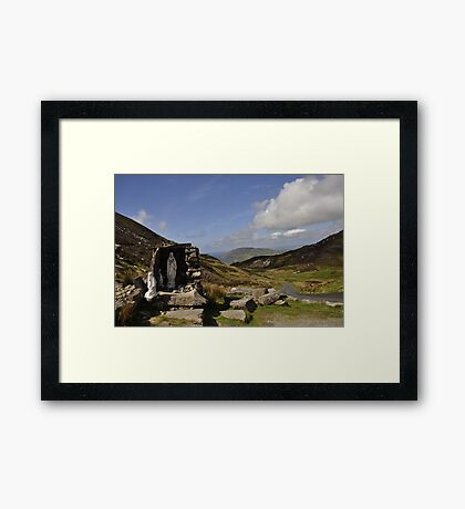 Stop for a prayer Framed Print