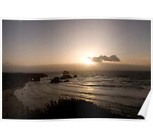 Big Sur Oceanscape and Cliff Poster