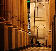 State Library of Victoria at night by Kazzart