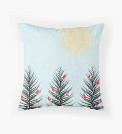 Illustration on Throw Pillow Throw Pillow