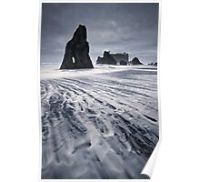 Ruby beach in the storm Poster