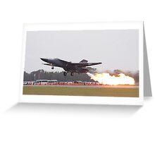 F111 Dump and Burn Greeting Card