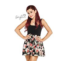 Ariana Grande Autographed Photography T-Shirt Photographic Print