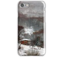 Brown brushstrokes on white iPhone Case/Skin