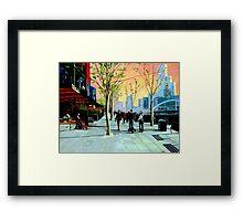 Southbank Promenade Framed Print