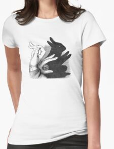 Hands Shadow Womens Fitted T-Shirt