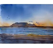 Sunset over Table Mountain Photographic Print