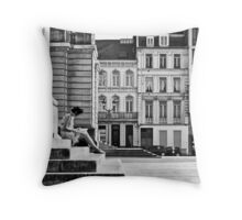 Writing woman Throw Pillow