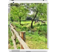 Grazing cows iPad Case/Skin