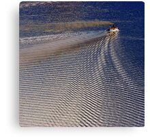 Ripples in the lake Canvas Print