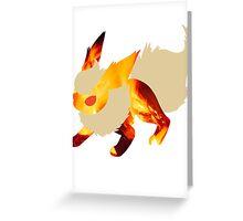 Flareon Blaze Greeting Card