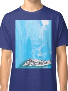 Homeless man in front of the Waldorf-Astoria, NYC, NY Classic T-Shirt