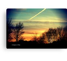 Sunset a view from Edinburgh Canvas Print