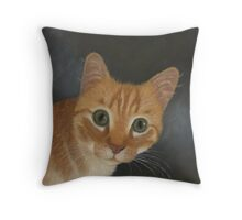 Malachy the ginger cat Throw Pillow