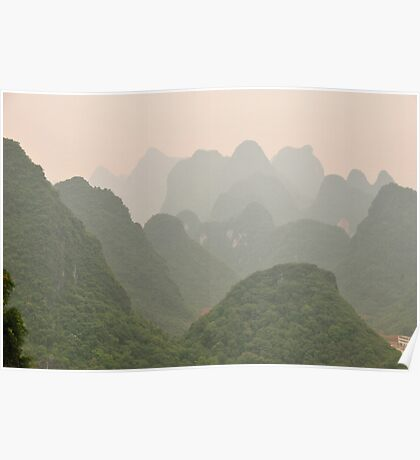 landscape near Guilin, China Poster