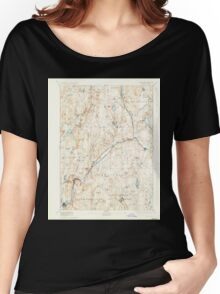 Massachusetts  USGS Historical Topo Map MA Barre 352456 1894 62500 Women's Relaxed Fit T-Shirt