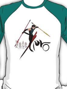 fate zero stay night lancer anime manga shirt T-Shirt