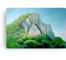 Castle on the hill top Canvas Print